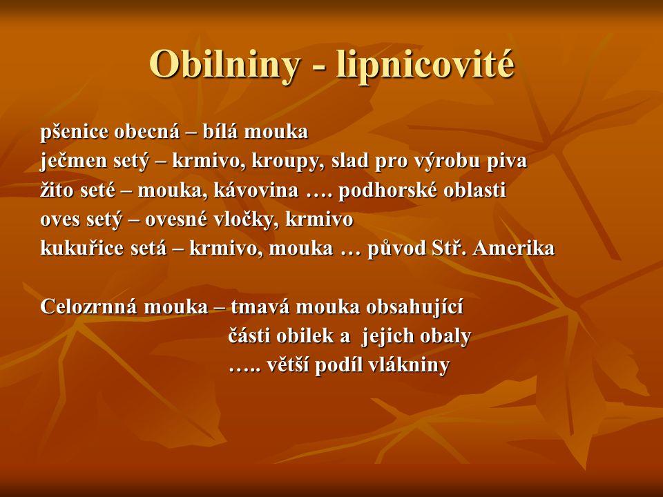 Obilniny - lipnicovité