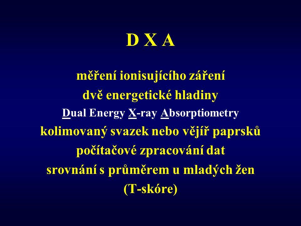 D X A měření ionisujícího záření dvě energetické hladiny