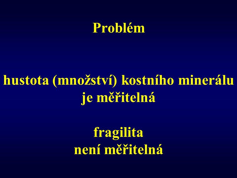 Problém hustota (množství) kostního minerálu je měřitelná fragilita není měřitelná