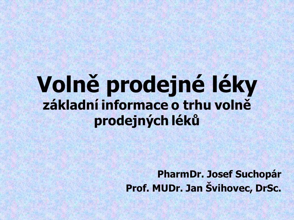 Volně prodejné léky základní informace o trhu volně prodejných léků