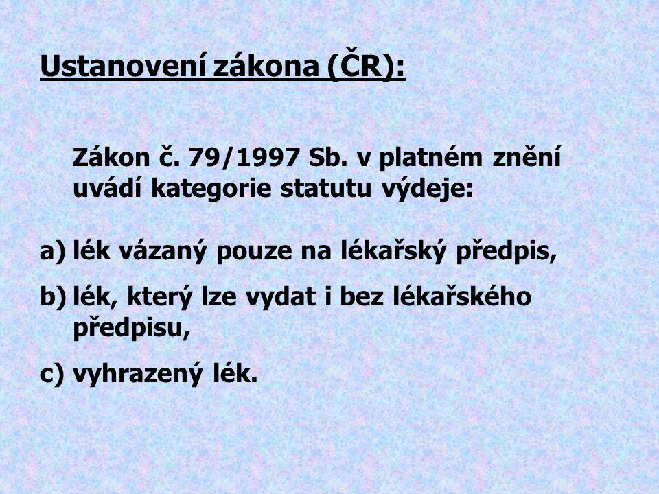 Ustanovení zákona (ČR):