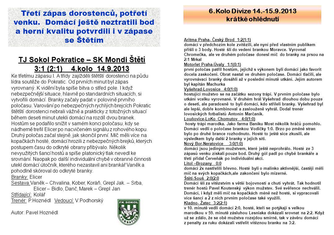 TJ Sokol Pokratice – SK Mondi Štětí
