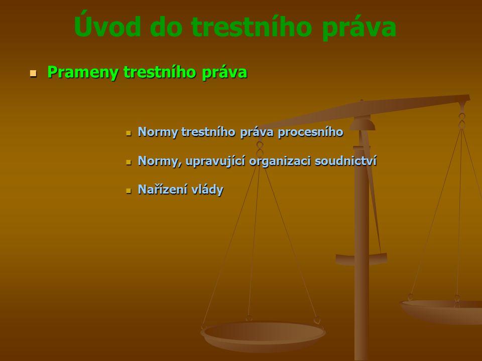 Prameny trestního práva