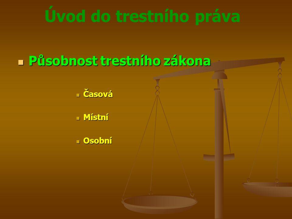 Působnost trestního zákona