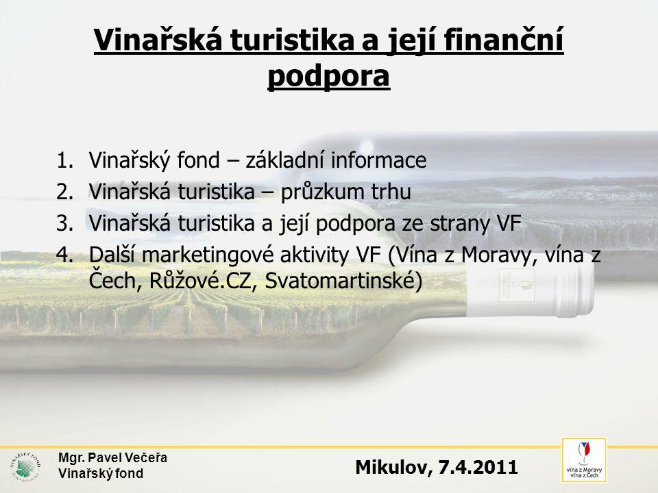 Vinařská turistika a její finanční podpora