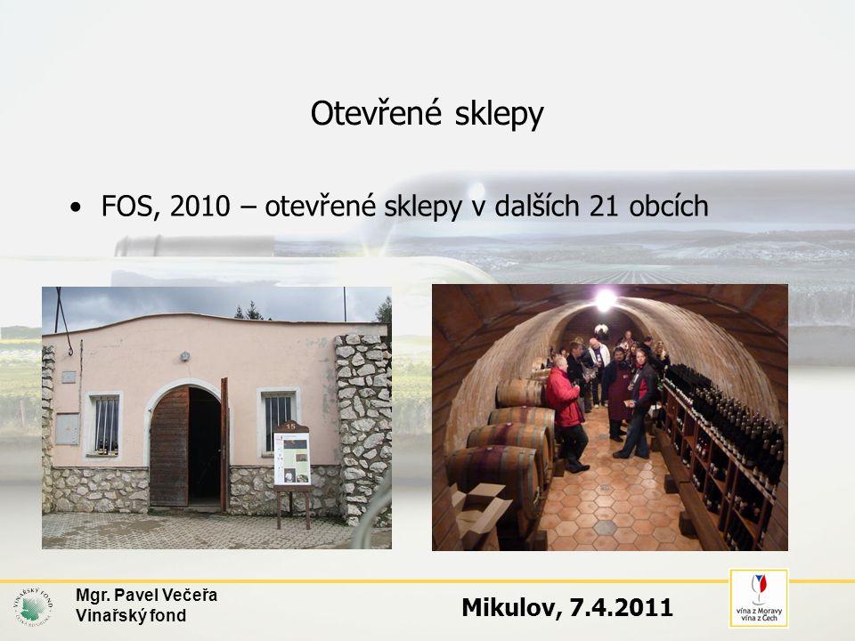 Otevřené sklepy FOS, 2010 – otevřené sklepy v dalších 21 obcích