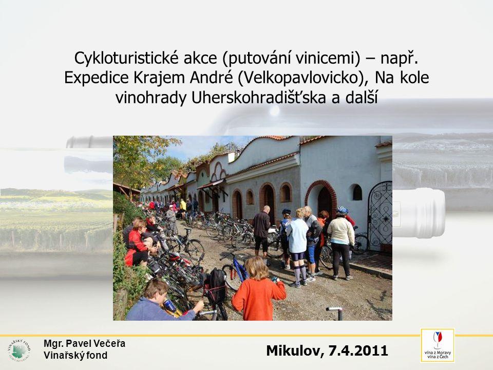 Cykloturistické akce (putování vinicemi) – např