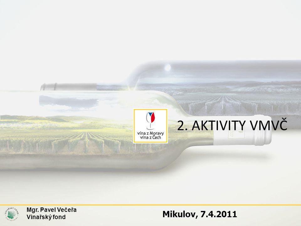 2. AKTIVITY VMVČ Mgr. Pavel Večeřa Vinařský fond Mikulov, 7.4.2011