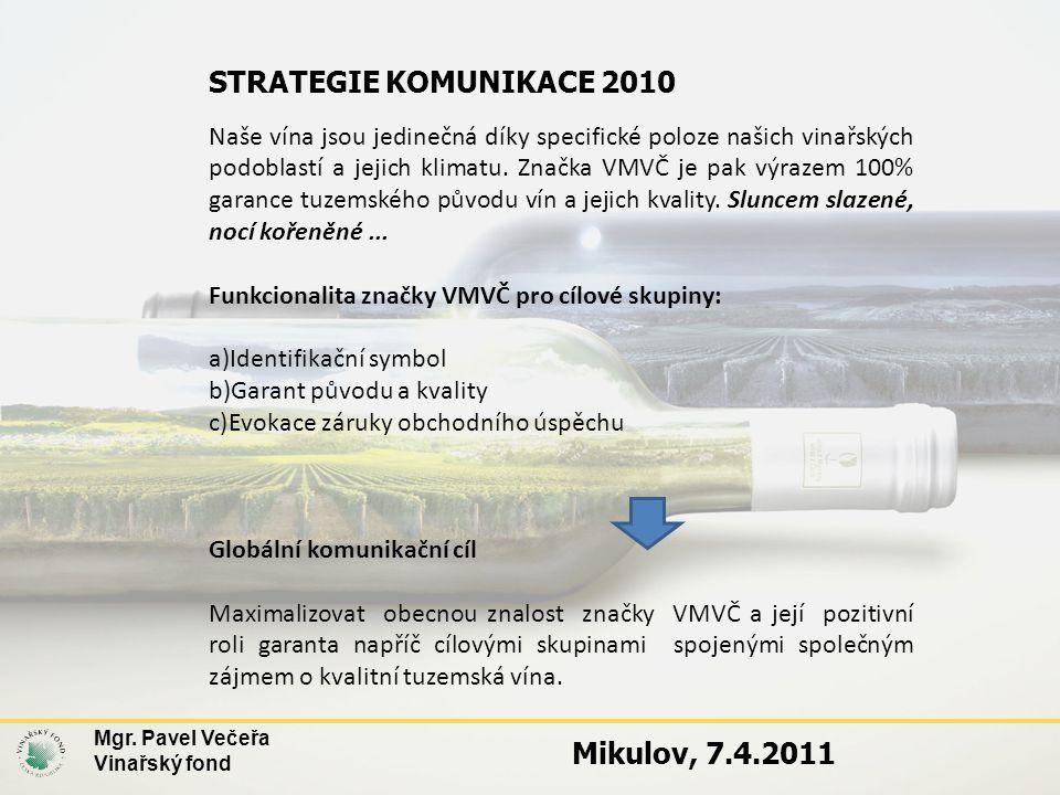STRATEGIE KOMUNIKACE 2010 Mikulov, 7.4.2011