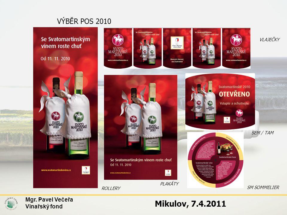 Mikulov, 7.4.2011 VÝBĚR POS 2010 Mgr. Pavel Večeřa Vinařský fond