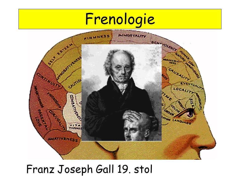 Frenologie Franz Joseph Gall 19. stol