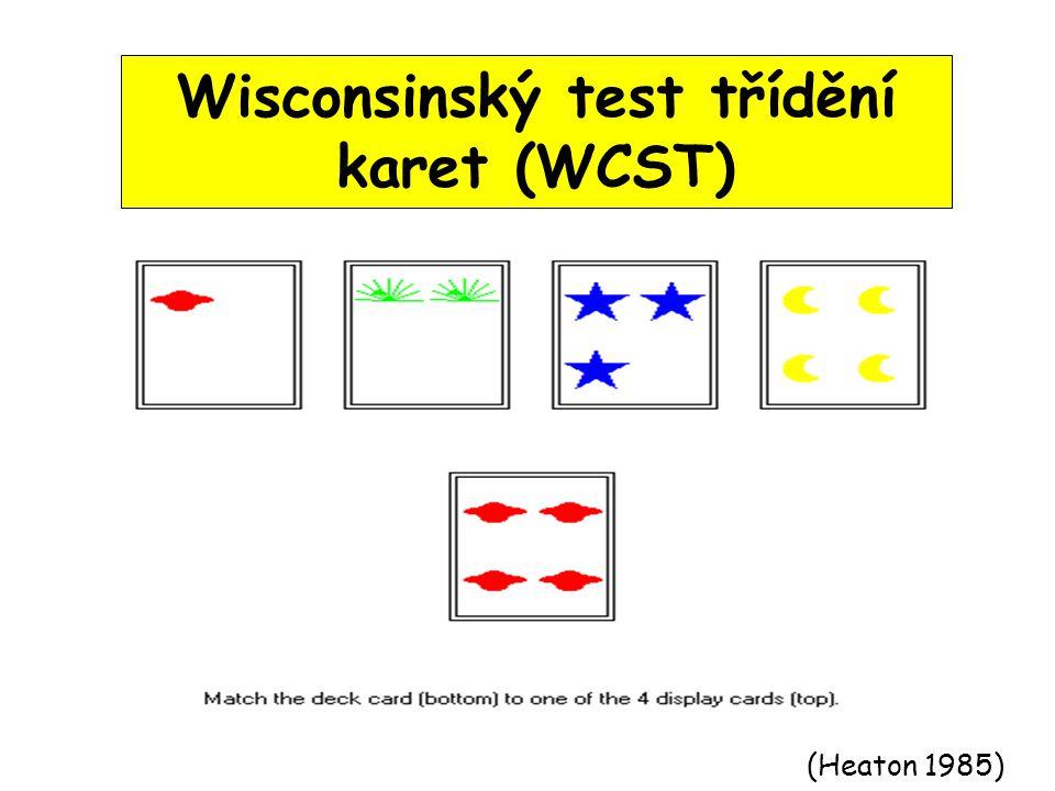 Wisconsinský test třídění karet (WCST)