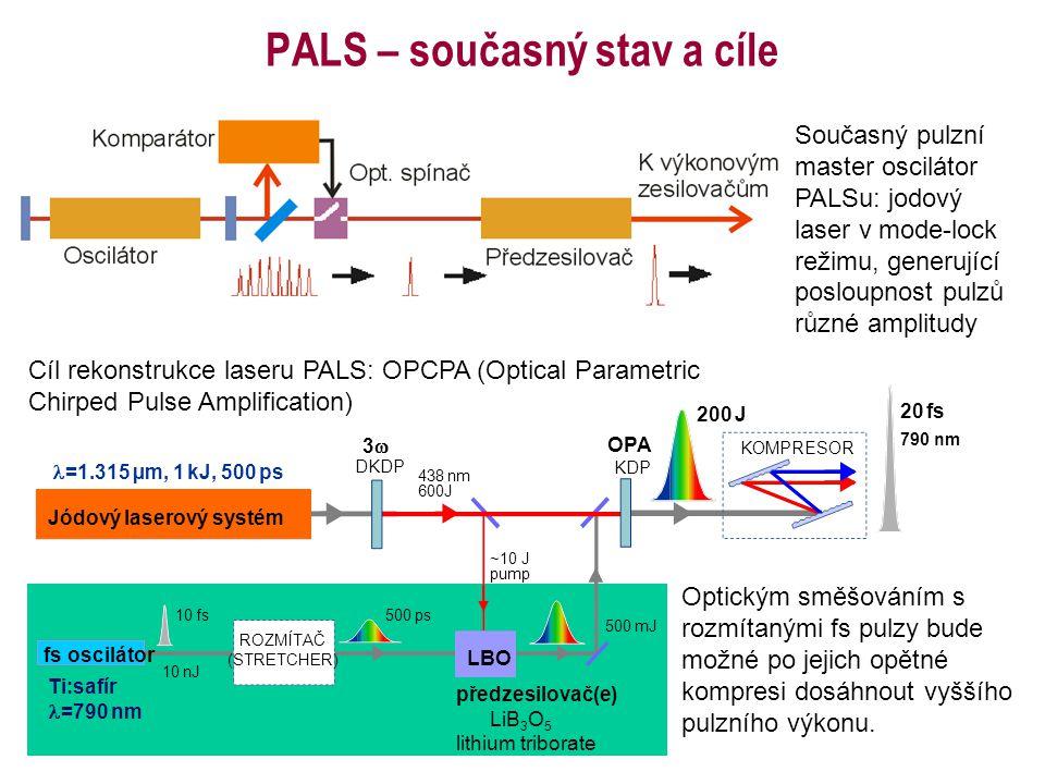 PALS – současný stav a cíle