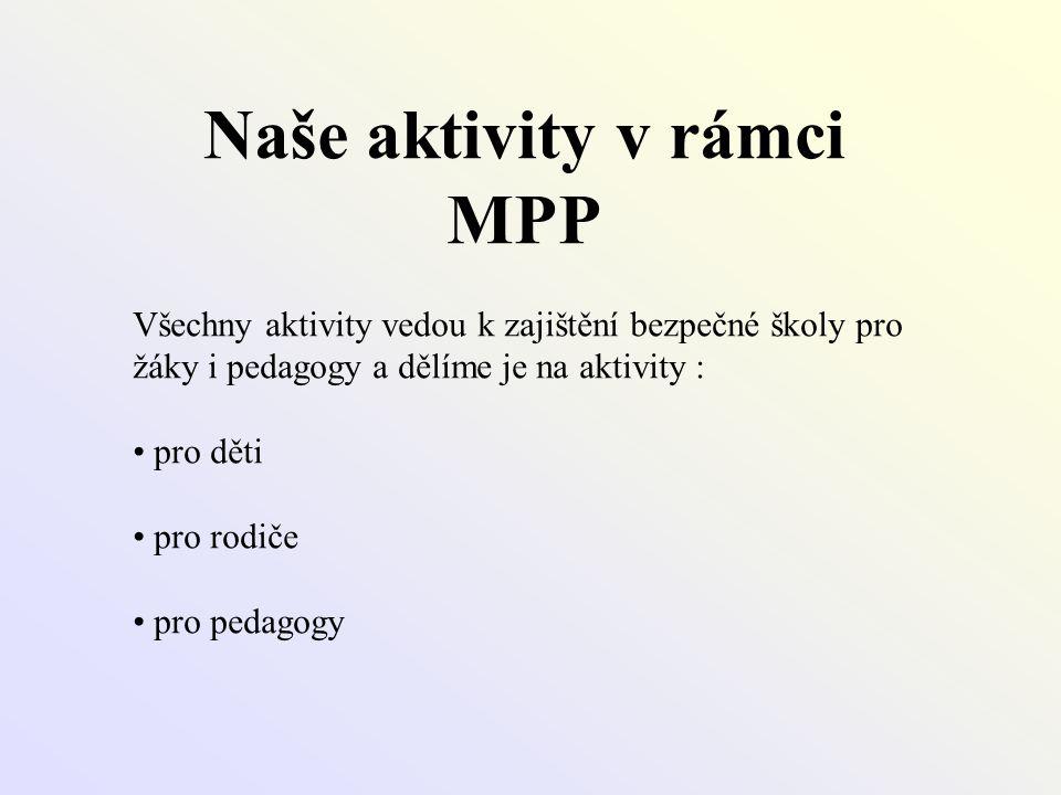 Naše aktivity v rámci MPP
