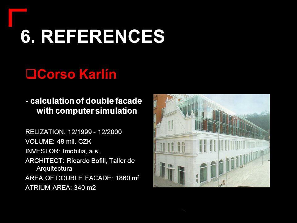 6. REFERENCES Corso Karlín