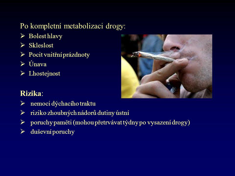 Po kompletní metabolizaci drogy: