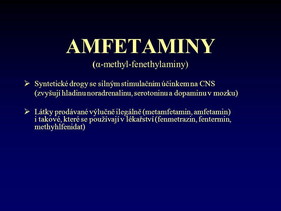 (α-methyl-fenethylaminy)