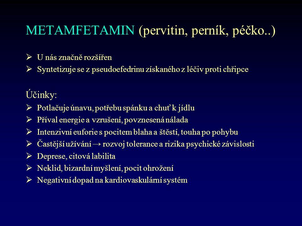 METAMFETAMIN (pervitin, perník, péčko..)