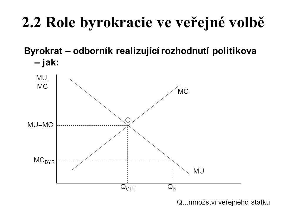2.2 Role byrokracie ve veřejné volbě