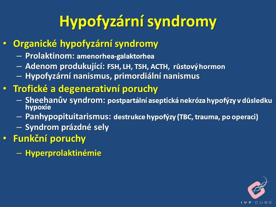 Hypofyzární syndromy Organické hypofyzární syndromy