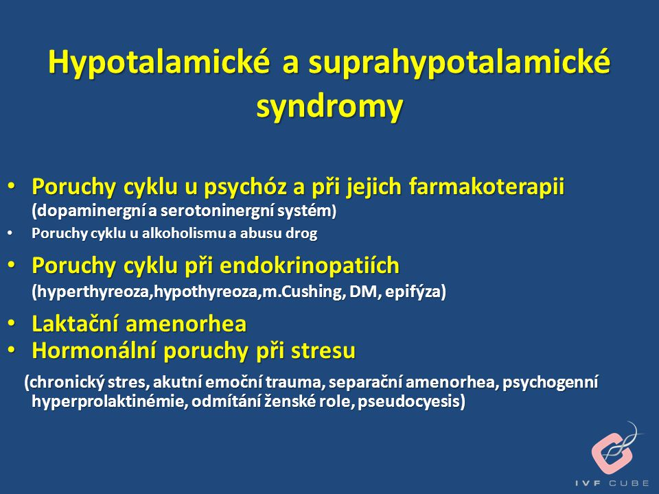 Hypotalamické a suprahypotalamické syndromy