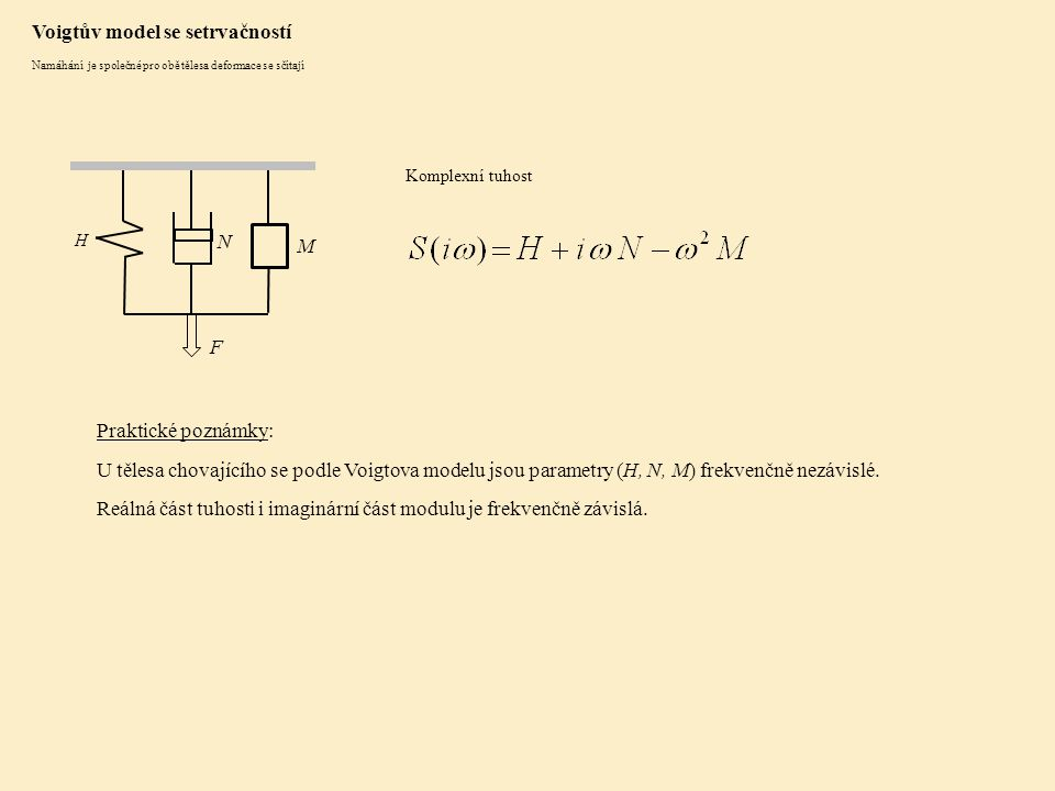 Voigtův model se setrvačností