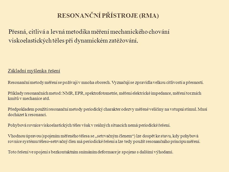 resonanční přístroje (RMA)