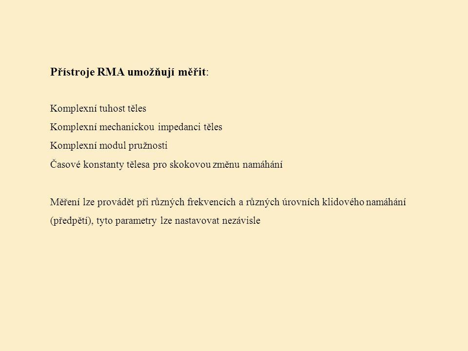 Přístroje RMA umožňují měřit: