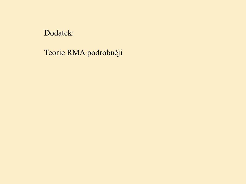 Dodatek: Teorie RMA podrobněji