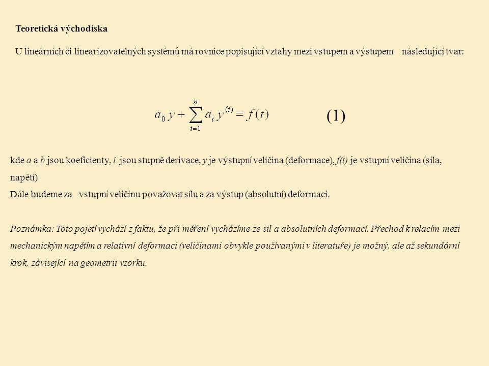 (1) Teoretická východiska