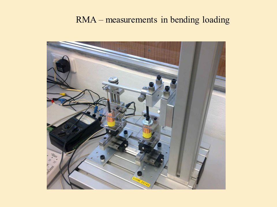 RMA – measurements in bending loading