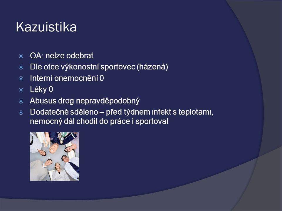 Kazuistika OA: nelze odebrat Dle otce výkonostní sportovec (házená)