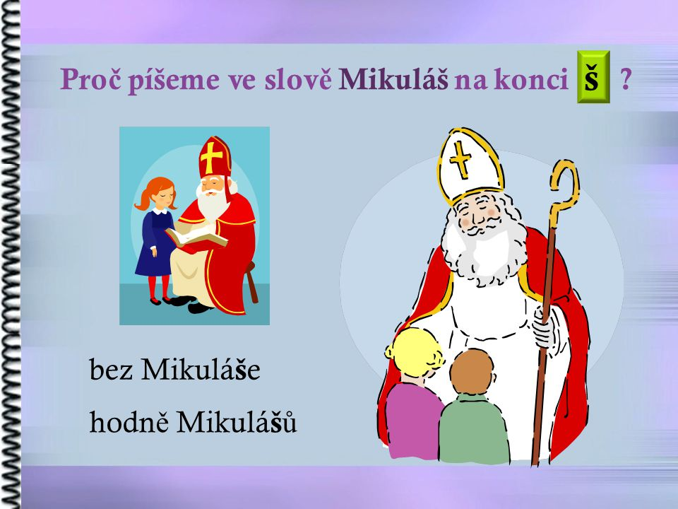 š Proč píšeme ve slově Mikuláš na konci bez Mikuláše hodně Mikulášů