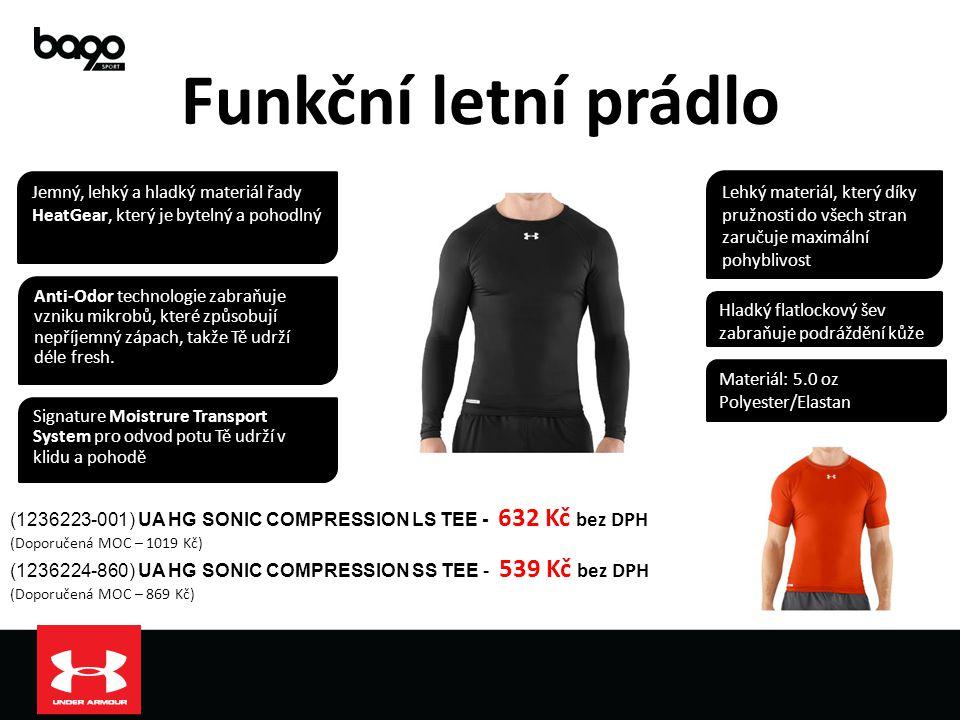 Funkční letní prádlo Jemný, lehký a hladký materiál řady HeatGear, který je bytelný a pohodlný.
