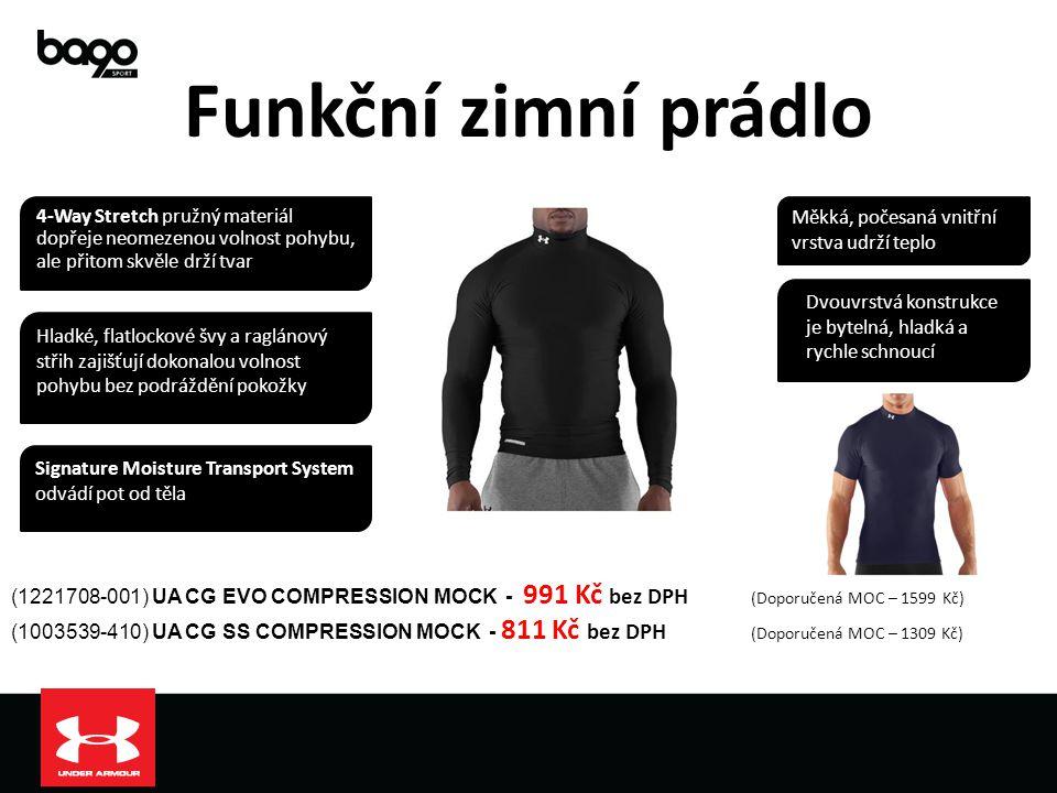 Funkční zimní prádlo 4-Way Stretch pružný materiál dopřeje neomezenou volnost pohybu, ale přitom skvěle drží tvar.