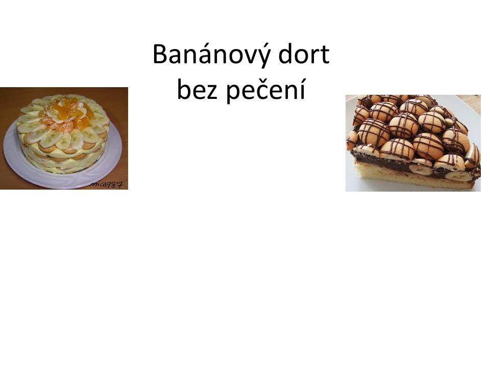 Banánový dort bez pečení