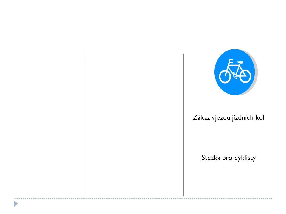 Zákaz vjezdu jízdních kol