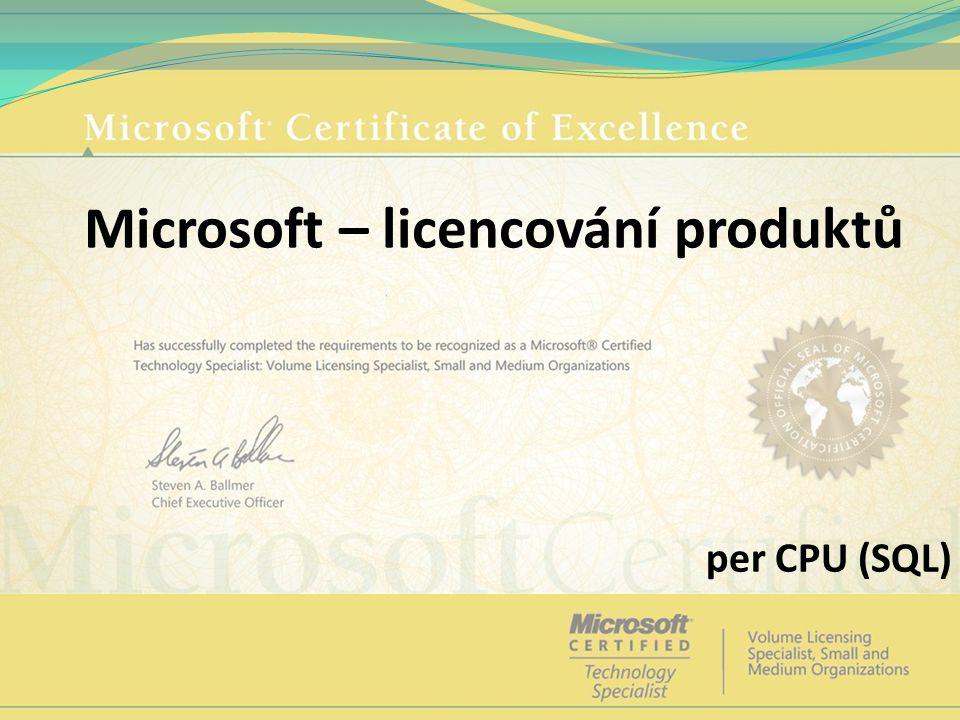 Microsoft – licencování produktů