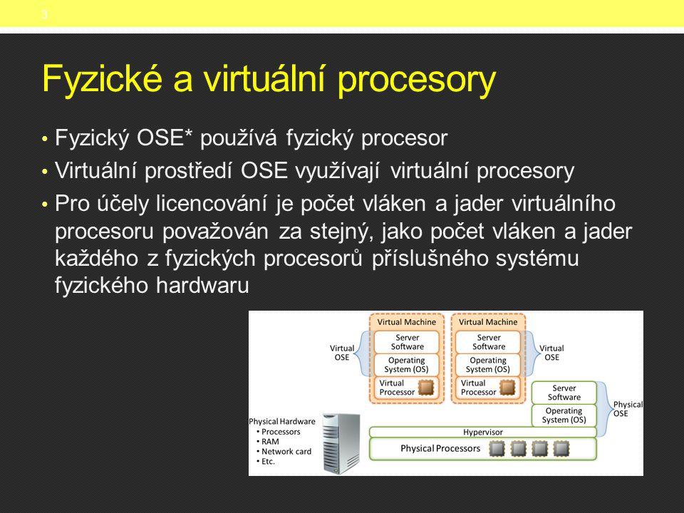 Fyzické a virtuální procesory