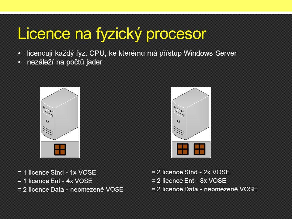 Licence na fyzický procesor