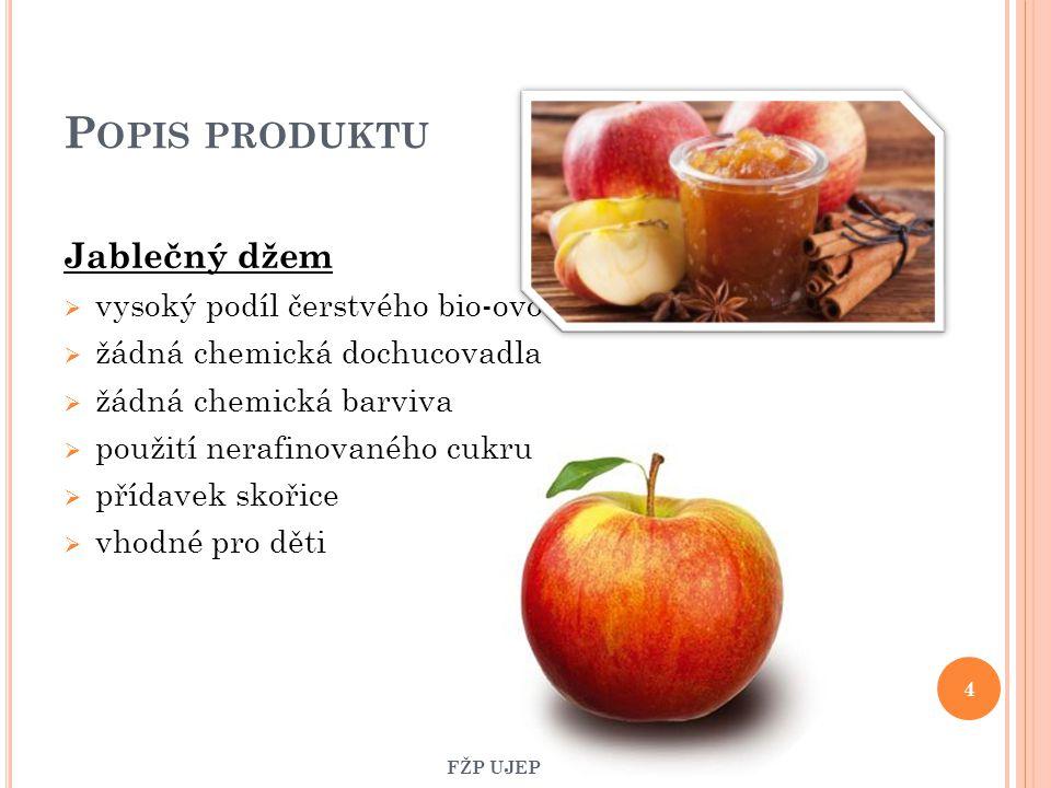 Popis produktu Jablečný džem vysoký podíl čerstvého bio-ovoce