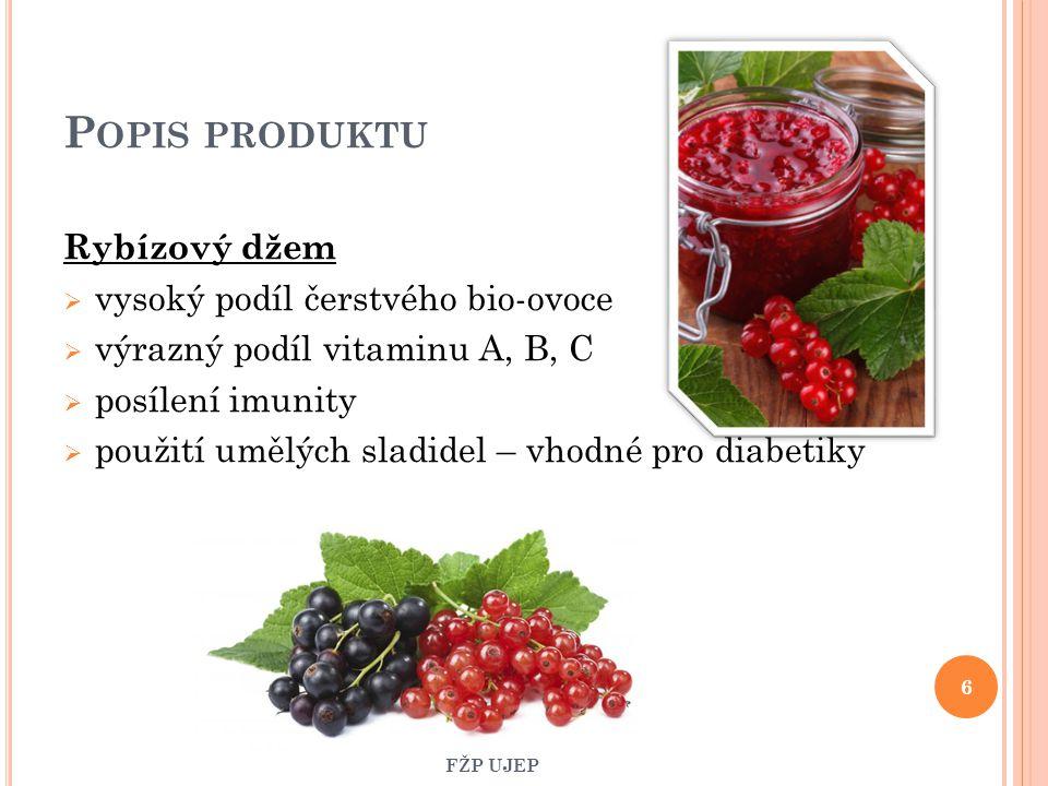 Popis produktu Rybízový džem vysoký podíl čerstvého bio-ovoce