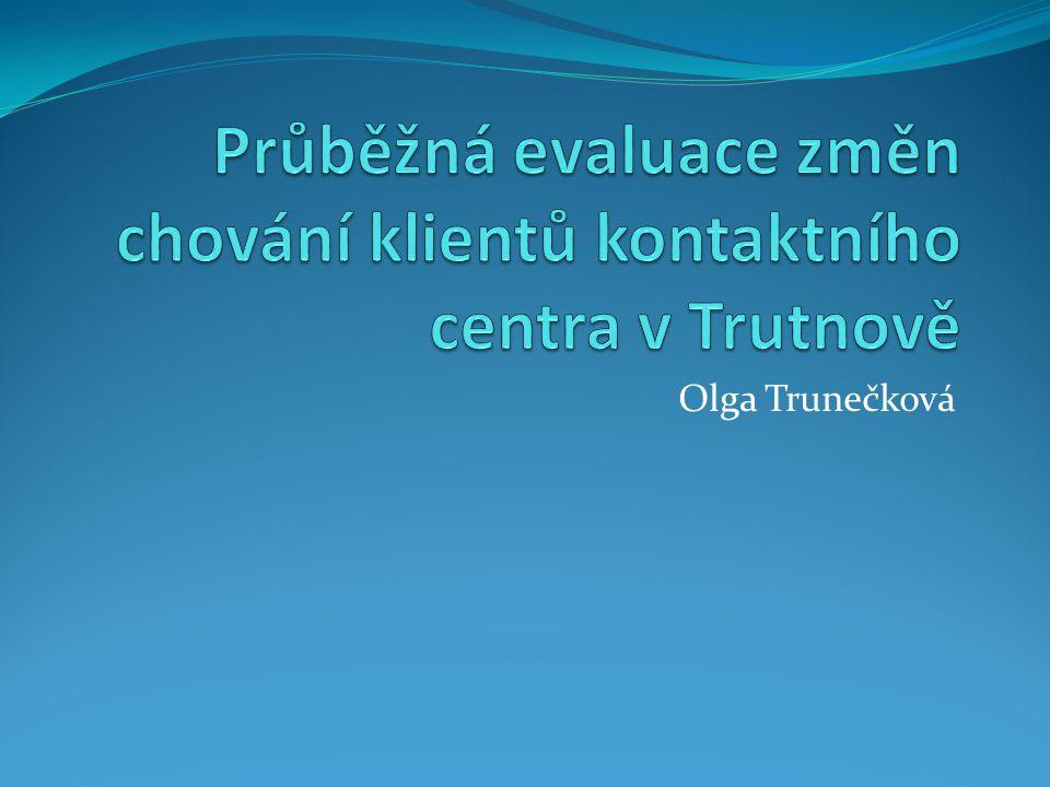 Průběžná evaluace změn chování klientů kontaktního centra v Trutnově