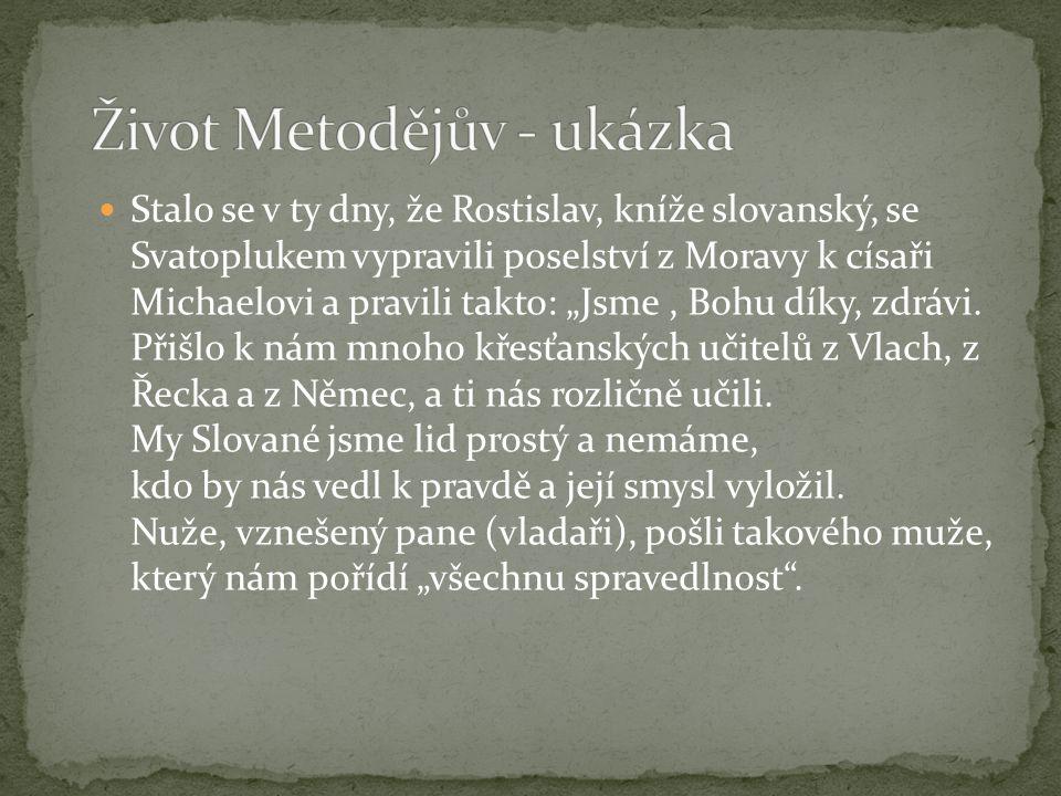 Život Metodějův - ukázka