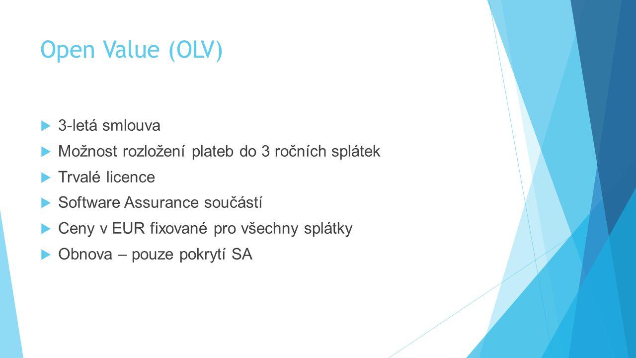 Open Value (OLV) 3-letá smlouva