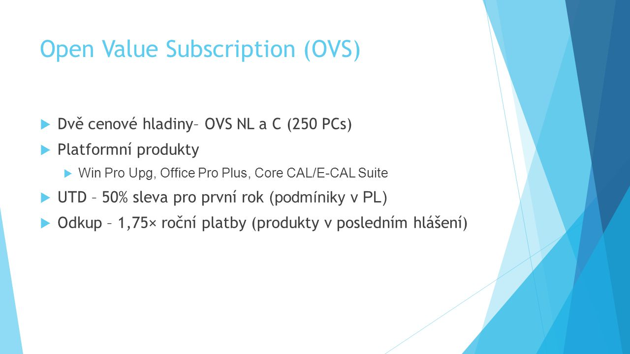 Open Value Subscription (OVS)