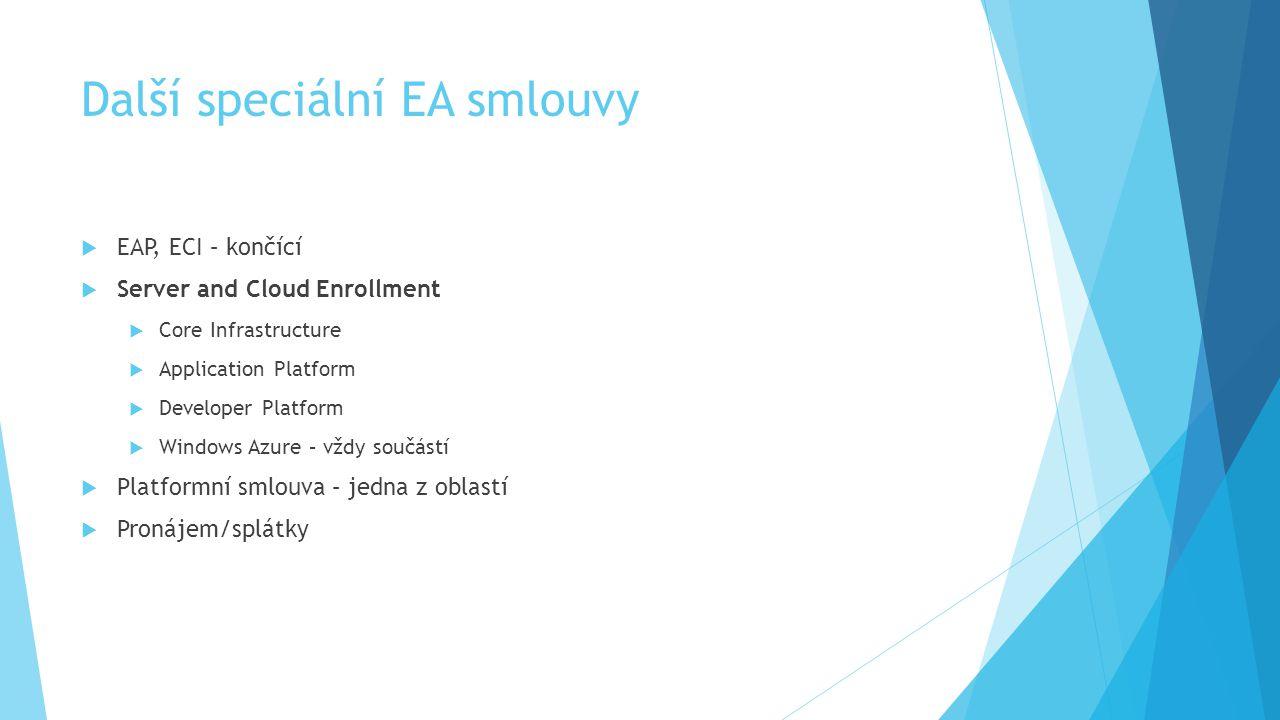 Další speciální EA smlouvy