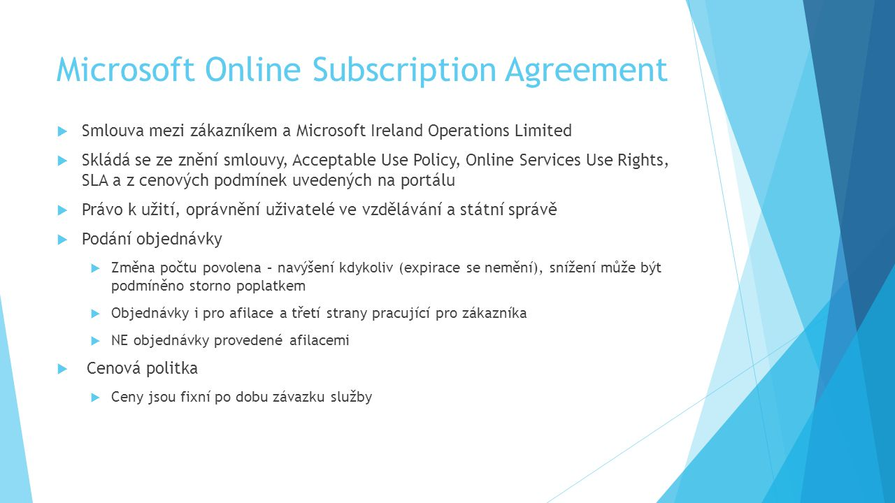 Microsoft Online Subscription Agreement