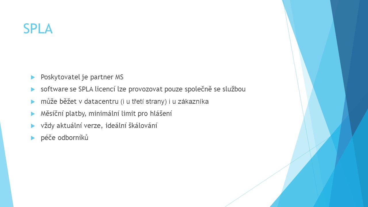 SPLA Poskytovatel je partner MS