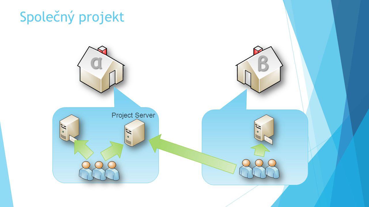 Společný projekt α β Project Server neSPLA tradiční licence αβγδτωε